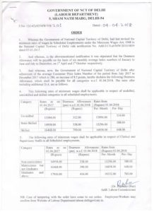 Minimum Wages Delhi